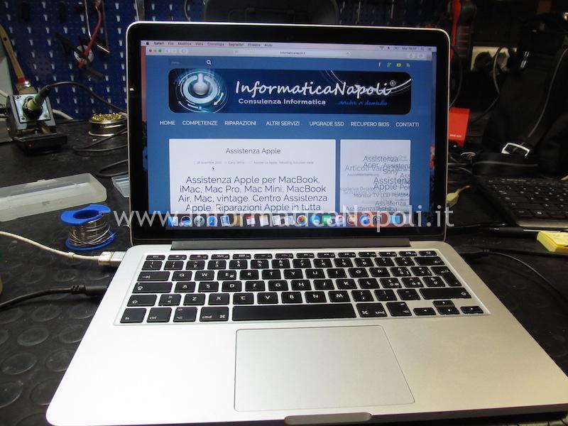 A1502 EMC 2835 820-4924-A Winbond 25q64FVIQ riparato funzionante
