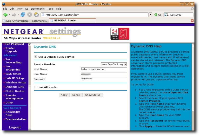 configurazione dvr modem virtual server