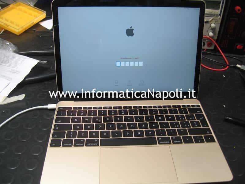 sblocco macbook bloccato rischiesta password EFI BIOS macbook 12 A1534 EMC 2746 oppure 2991