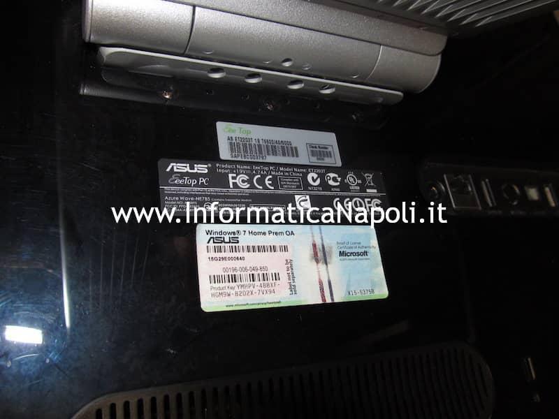 come aprire ASUS EeeTop PC ET2203T
