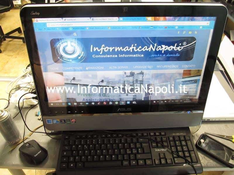 ASUS EeeTop PC ET2203T riparato funzionante non si spegne