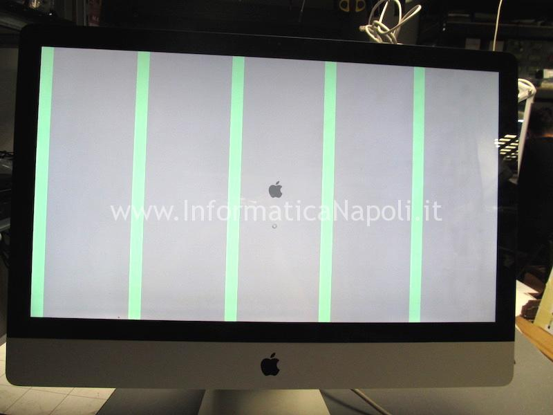 problema iMac righe verticali rebelling chip video ATI righe verdi