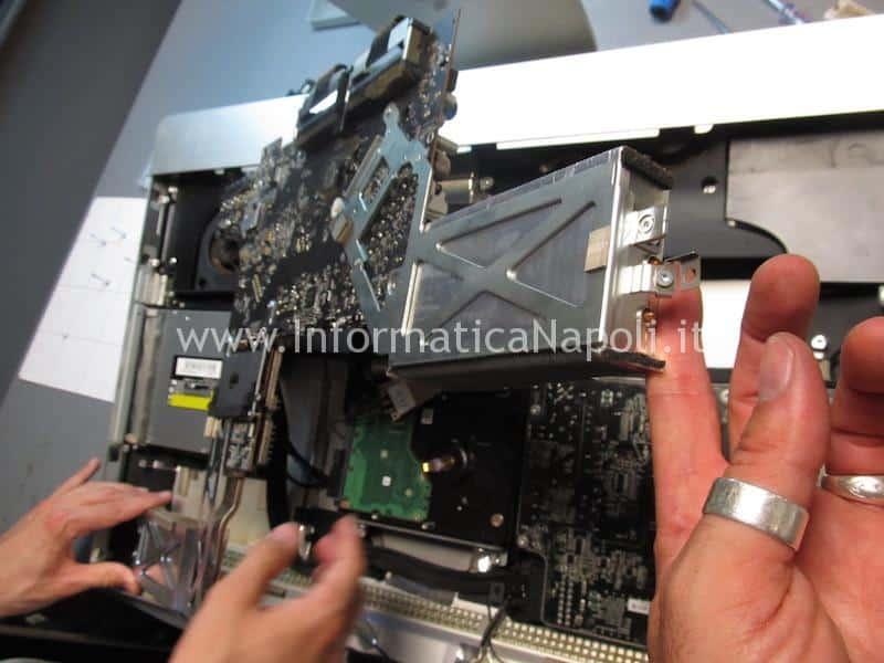 estrazione e riparazione logic board apple imac 27 assistenza riparazione