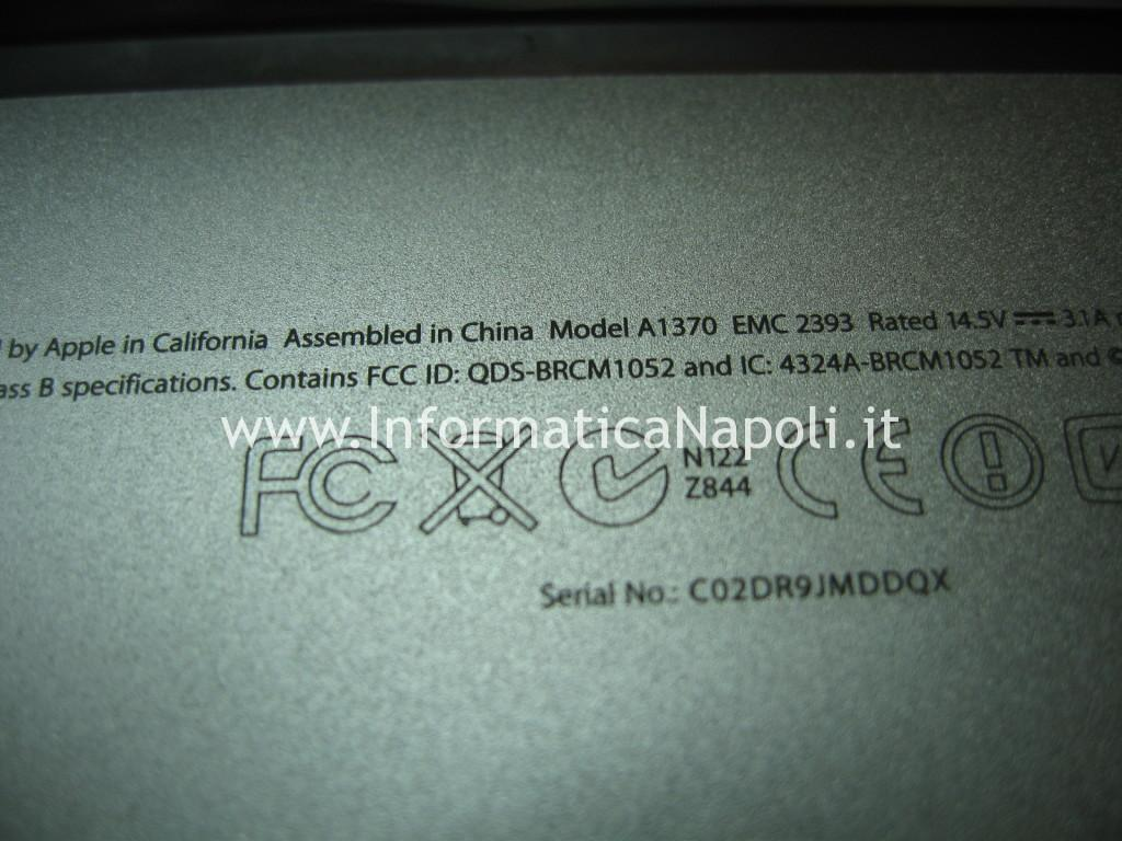 problema 3 beep Apple MacBook Air 11 A1370 A1465 820-2796-A   820-00164-03   820-3208-A