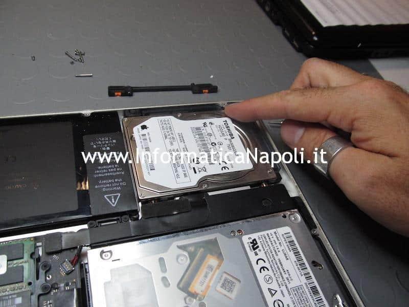 RImozione HDD upgrade SSD Apple