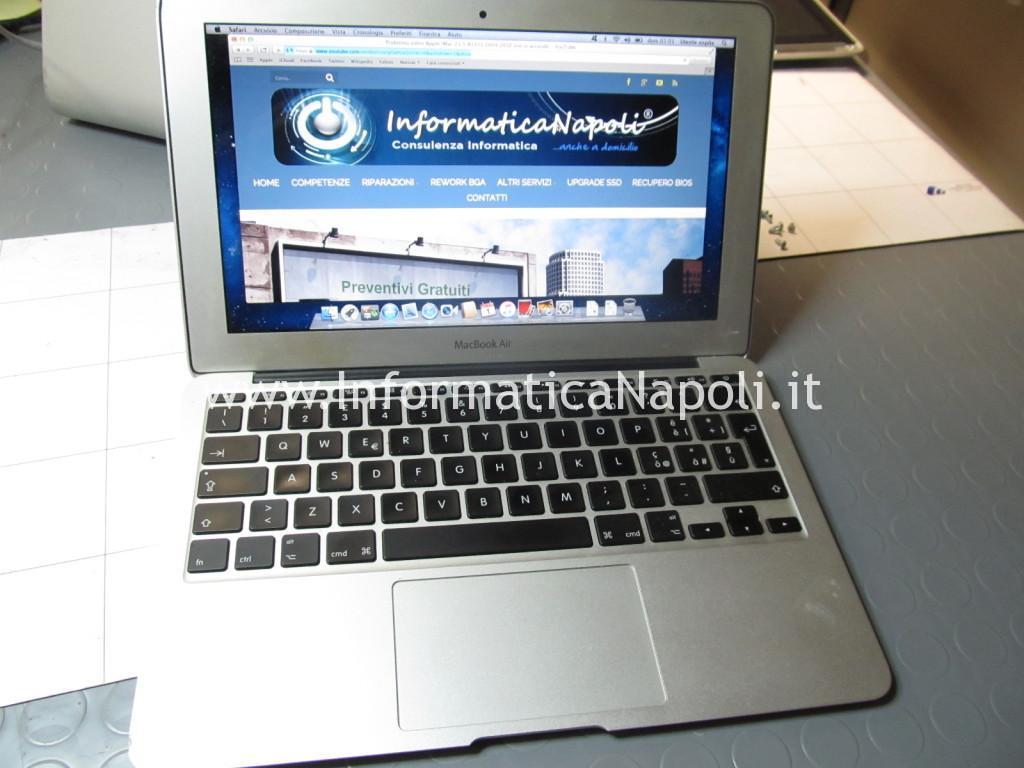 problema macbook air 11 A1370 A1465 late 2010 2011 2012 2013 2014 2015 risolto