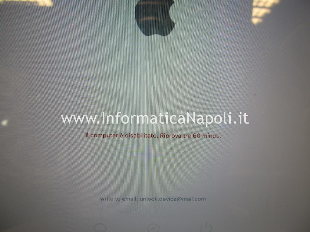 blocco mac richiesta codice macbook
