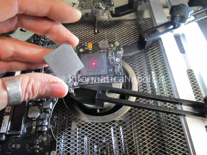 come effettuare reballing sostituzione chip ATI nVidia MacBook Pro 15 A1286