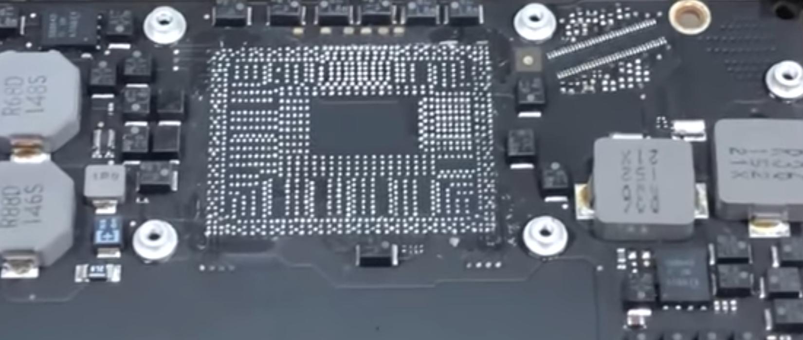 reballing CPU MACBOOK AIR
