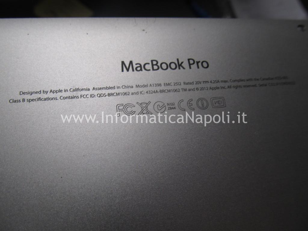 reballing MacBook Pro 15 retina A1398 EMC 2512 2012 nVidia N13P-GT-W-A2 GeForce GT 650M