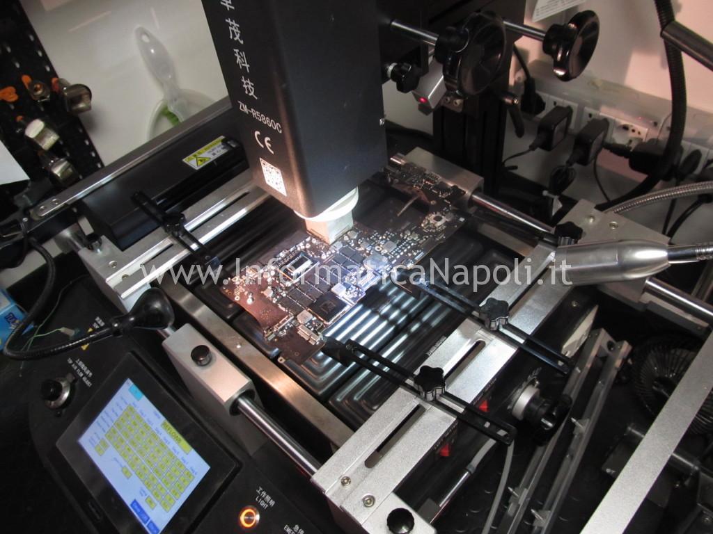 reballing profilo termico reballing rework imac come riparare scheda video MacBook Pro 15 retina A1398 EMC 2512 2012 nVidia N13P-GT-W-A2 GeForce GT 650M