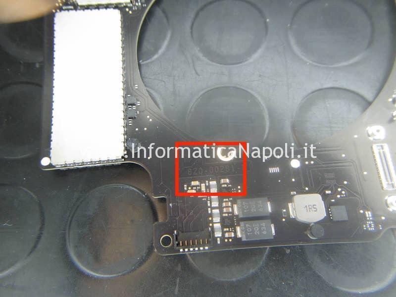 scheda logica MacBook 15 retina 2016 | 2017 touchbar A1707 820-00281-A 820-00281-10