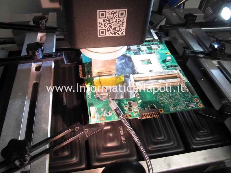 reballing sostituzione chip video Asus K52JT AMD Radeon HD 6370M 216-0774211