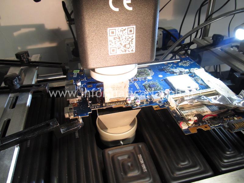 reballing ATI Mobility Radeon HD 5650 Toshiba L670D-11M