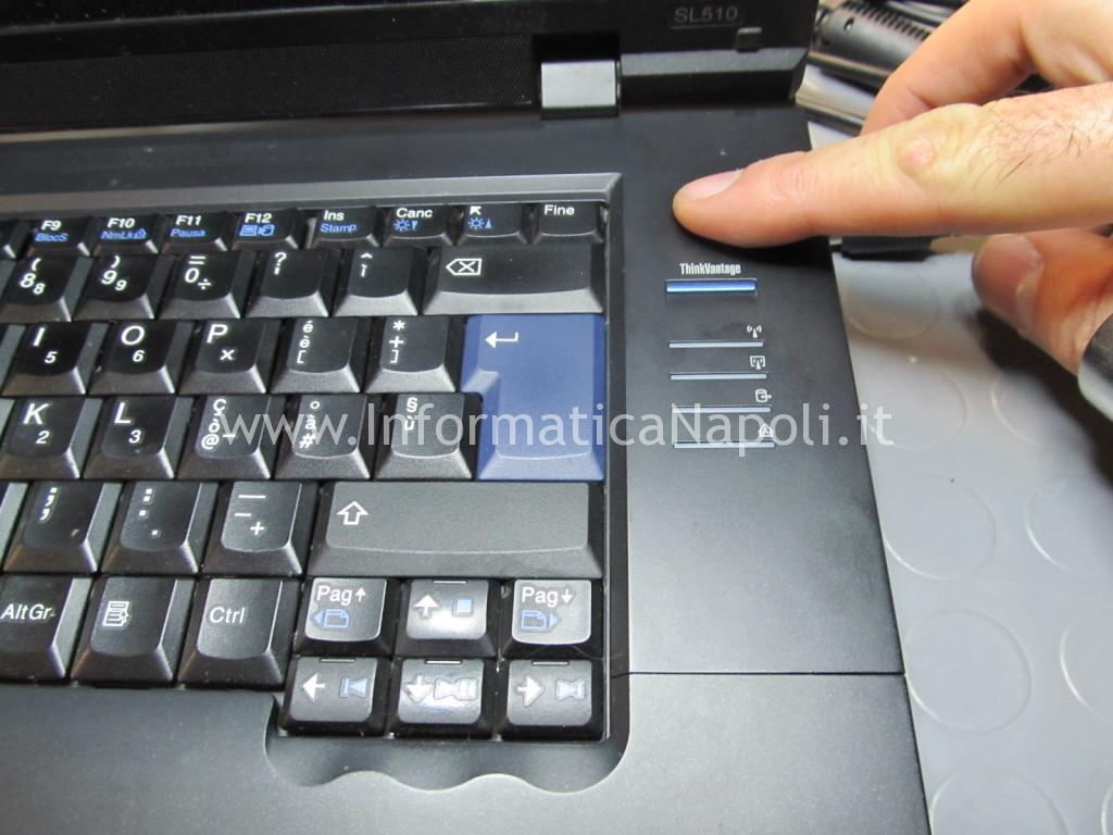 lenovo thinkpad SL510 type 2847 non si avvia