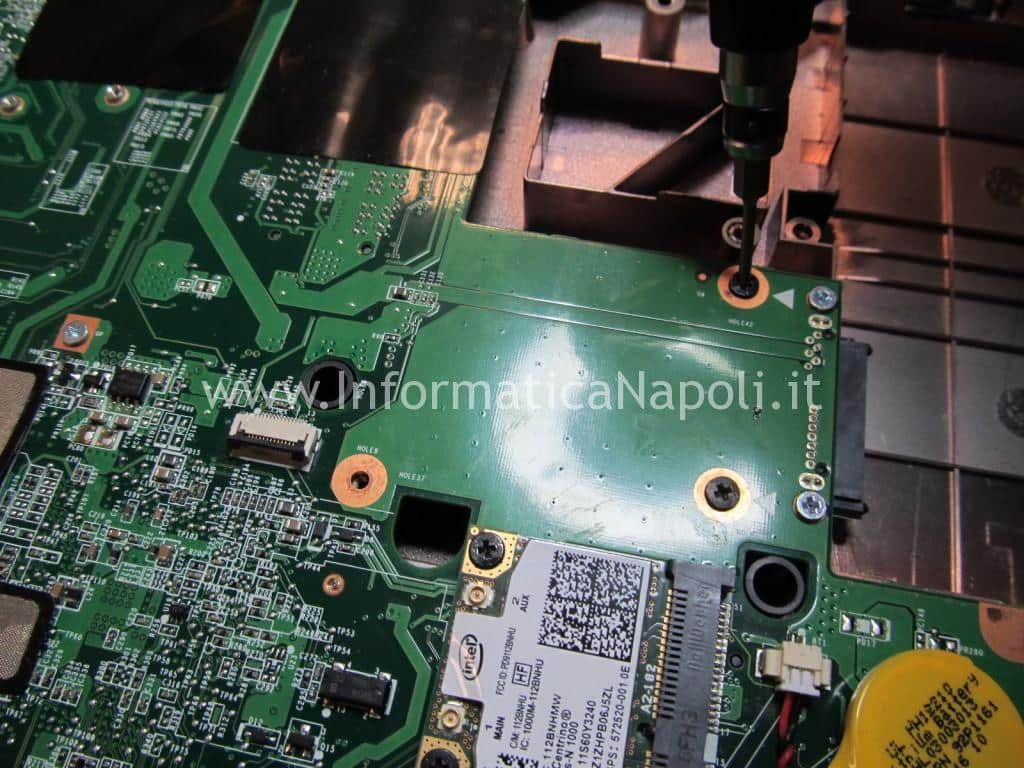 smontare scheda madre thinkpad SL510 type 2847 DAGC3AMB8IO