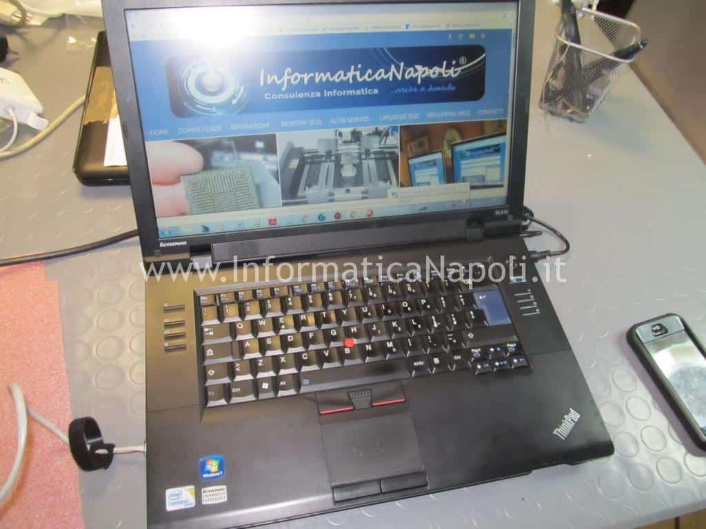 lenovo thinkpad SL510 type 2847 riparato funzionante