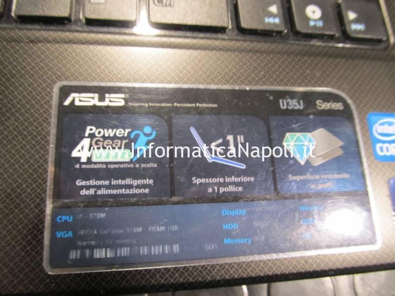 schermo nero Asus U35J nVidia GeForce 310M