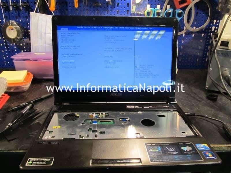 Asus U35J nVidia GeForce 310M riparato funzionante