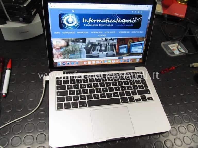 Mancata retroilluminazione MacBook Pro 13 Retina A1502