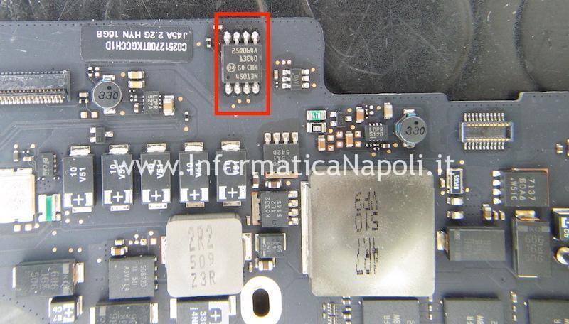 riprogrammazione EFI BIOS MacBook Pro retina 15 A1398 2012 | 2013 | 2014 | 2015 820-3662-A