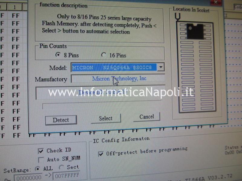 ripristino Apple MacBook pro 15 2012 2013 2014 2015 programmatore EFI SPI EEPROM