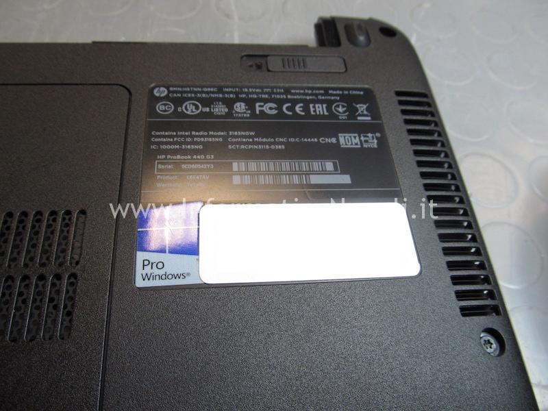 Aprire HP ProBook 440 G3