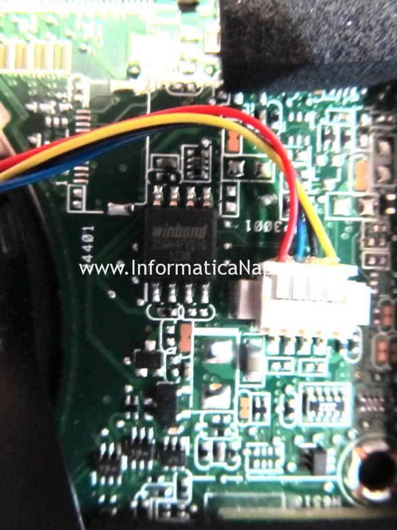 Winbond-25Q64FVSIG assistenza riparazione ripristino bios Asus VivoBook S200E