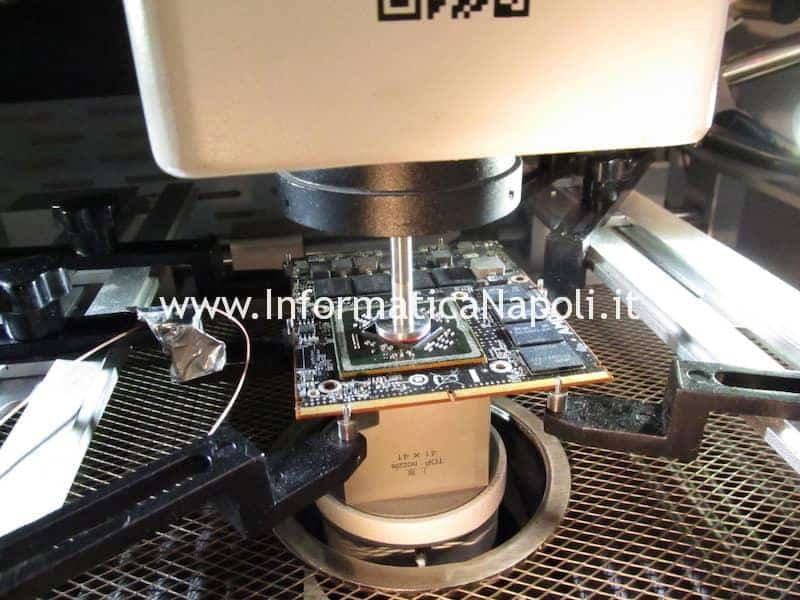 Reballing GPU BGA posizionamento