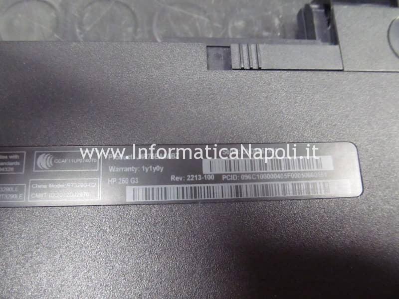 Problemi accensione avvio HP 250 G3