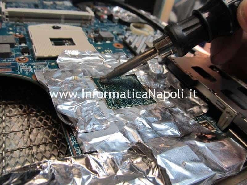 pulizia stagno piombo scheda madre reballing flussante come riparare e fare reballing bga HP ProBook 4520s