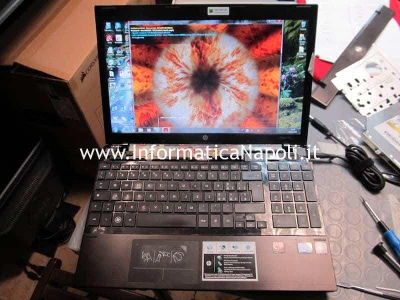 HP ProBook 4520s riparato funzionante stress test GPU dopo riparazione