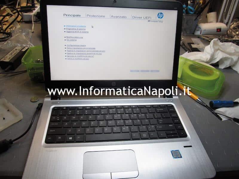 HP ProBook 440 G3 riparato si accende