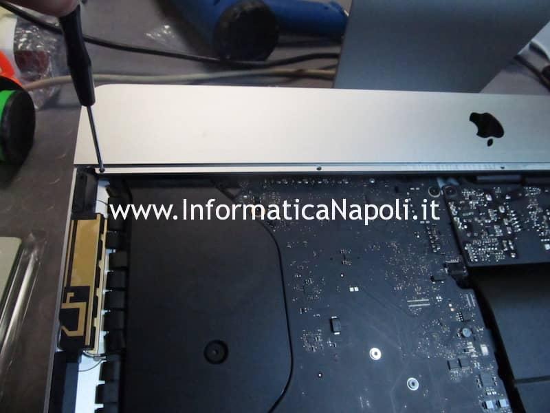 smontare aprire scheda logica Apple iMac A1418