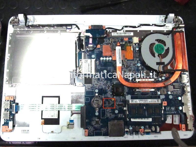 ripristino recovery bios Sony Vaio SVF152 DA0HK9MB6D0