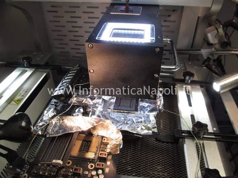 reballing sostituzione nVidia N13E-GTX-W-A2 iMac A1419 27 pollici late 2012 820-3299-A