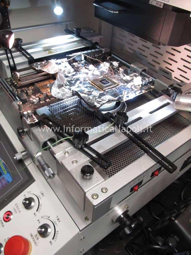 processo rifusione reballing nVidia N13E-GTX-W-A2 iMac A1419 27 pollici late 2012 820-3299-A