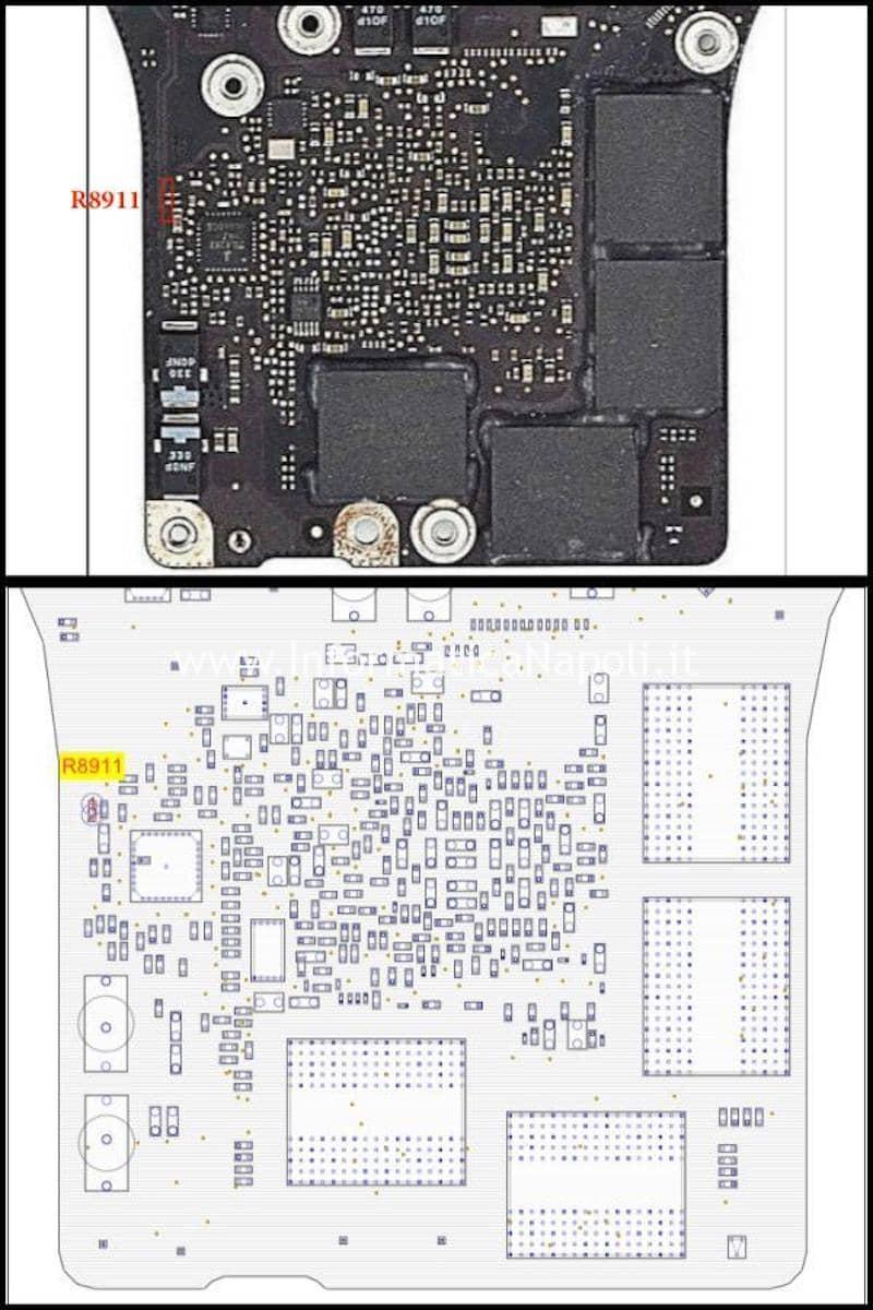 Board View macbook 17 fix disabilitazione GPU discreta AMD radeon 820-2914