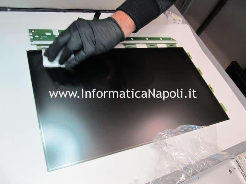 fasi pulizia display apple imac A1311 A1312 27 21.5