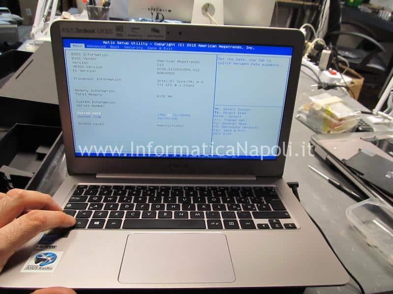 Asus ZenBook UX305 | UX305FA rev 1.2 ripristinato funzionante