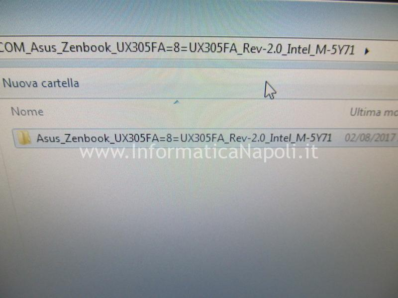 ripogrammazione bios Asus ZenBook UX305 | UX305FA rev 1.2