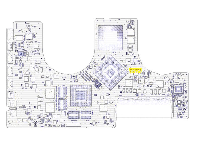 macbook pro 17 2009 A1297 820-2610-A rail s5