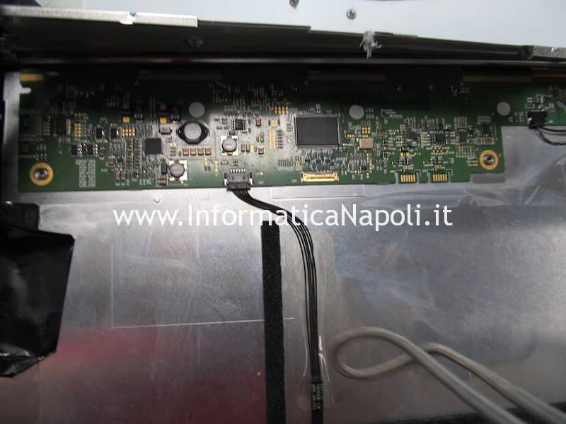problemi schermo sporco fumo sigaretta elettronica iMac A1311 A1312 olio liquido svapo e-cig