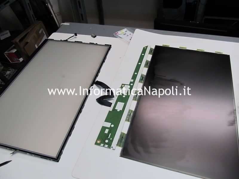 pulizia pannello imac 21.5 da residui vapore fumo sigaretta elettronica apple iMac