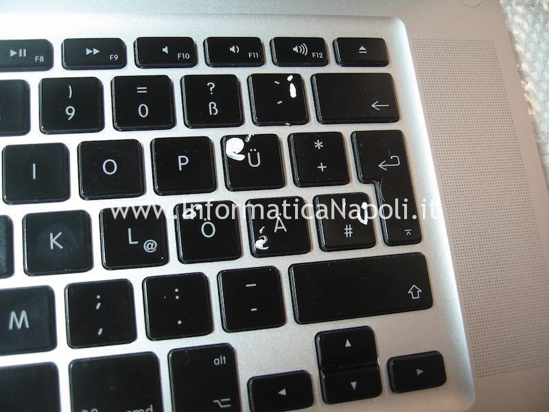 tastiera dipinta macbook