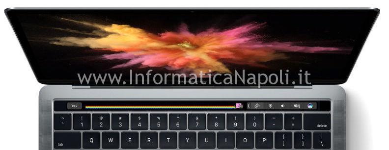riparazione schermo macbook pro 13 a1706 touchbar 2