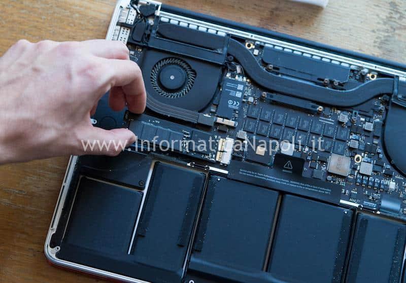sostituire SSD macbook pro retina