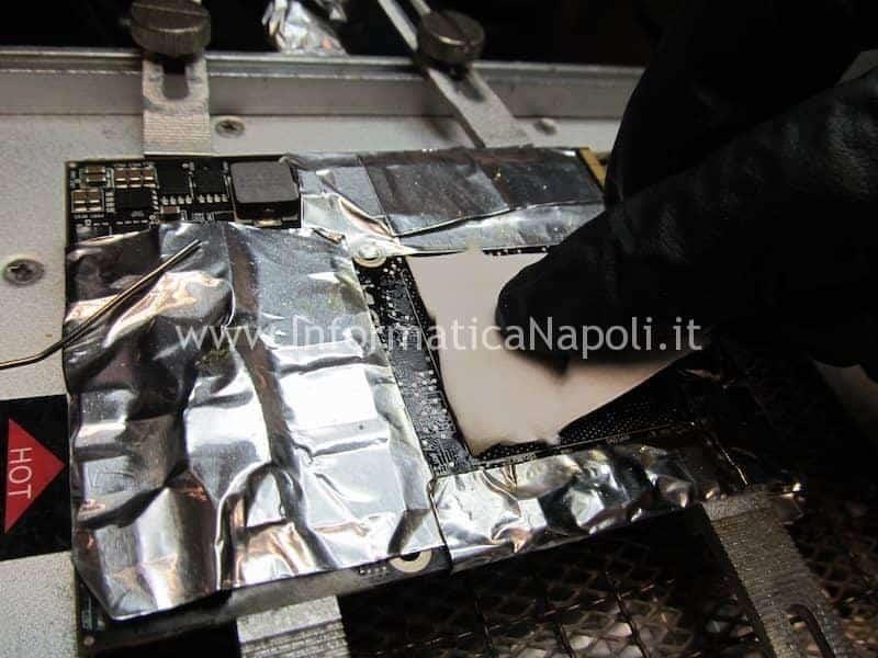 reball pulizia rimozione stagno chipset intel macbook a1278