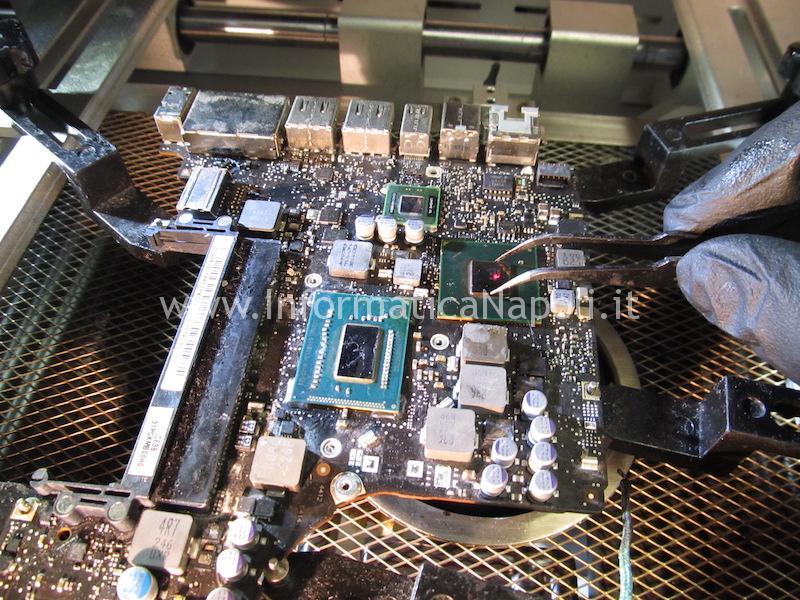 reballing riparazione pulizia scheda logica macbook pro 13 a1278