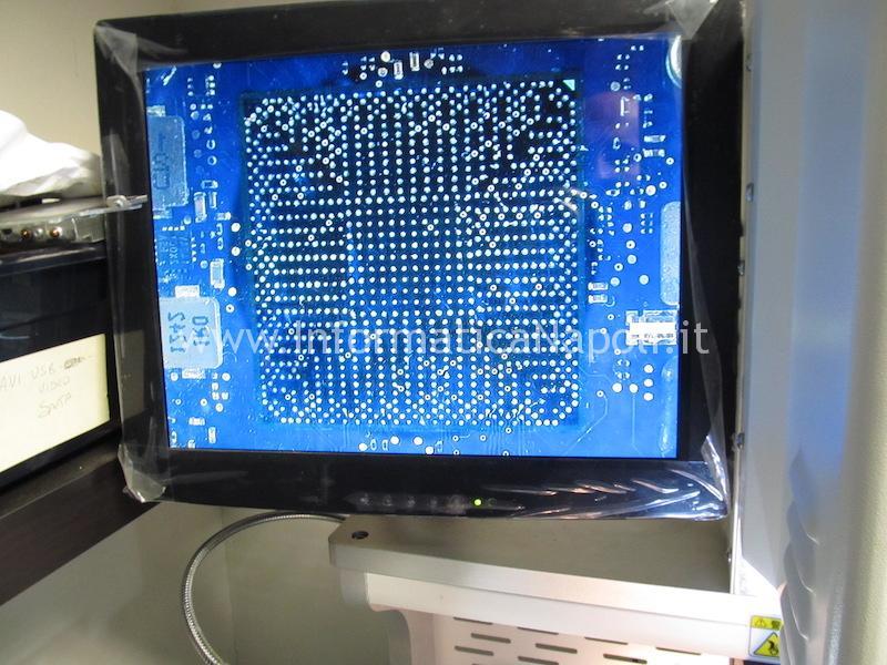 puntamento chip reballing riparazione pulizia scheda logica macbook pro 13 a1278